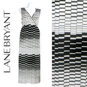 Lane Bryant Optical Illusion Maxi Dress 18/20 NWT